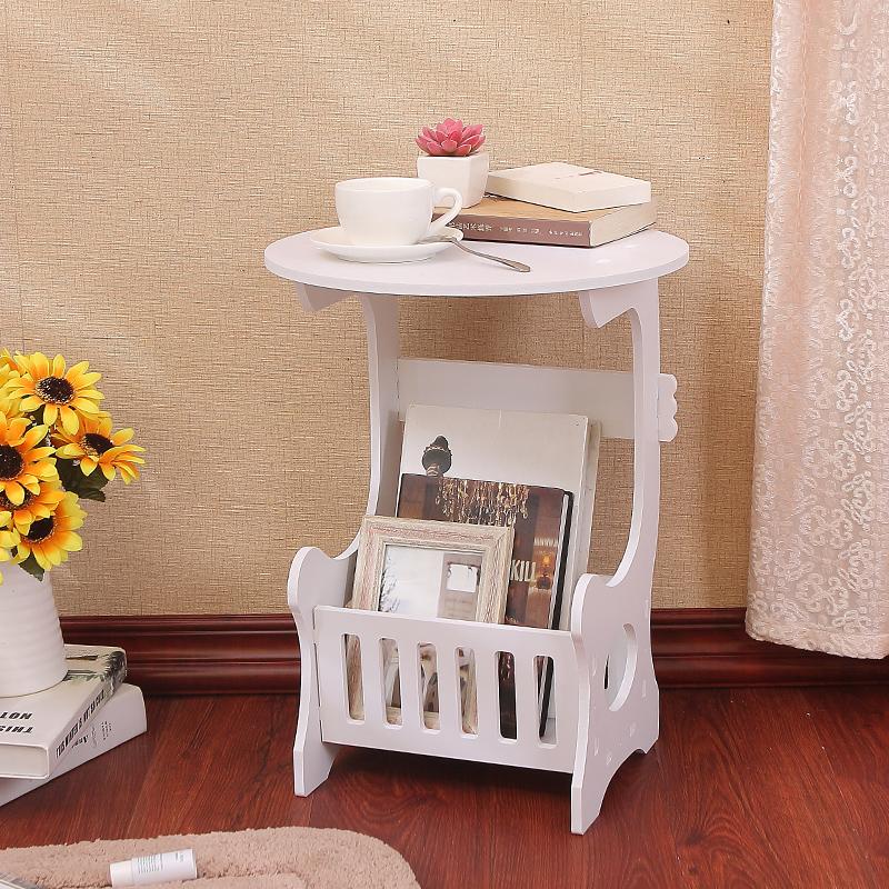 欧式现代茶几简约卧室迷你床头小圆桌子客厅圆形休闲小茶几小户型