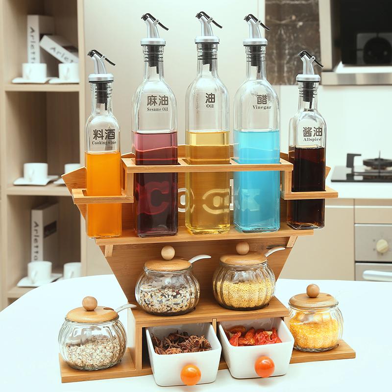 日式调料盒 套装 家用 组合装 四件套8件新款陶瓷厨房用具商用