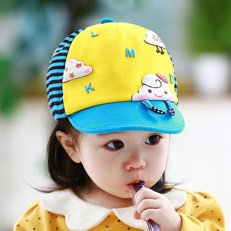 宝宝帽子春秋韩国女孩纯棉薄款鸭舌帽春款潮1-3岁男童女童遮阳帽