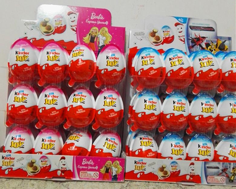 英文健达奇趣蛋牛奶巧克力含新奇玩具礼物男女版整盒24粒包邮