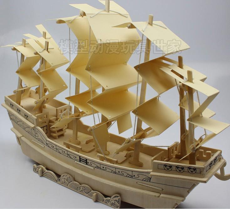 船模型木制手工_模型船手工制作_海贼王模型