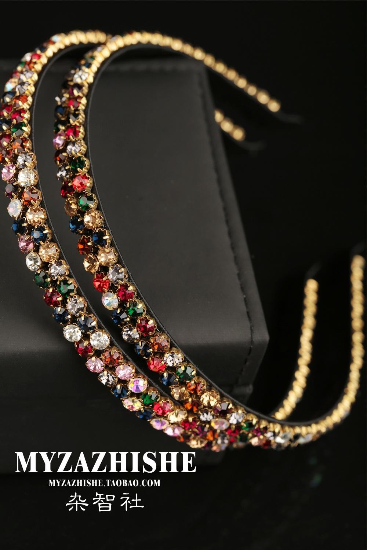 时尚韩版头箍满钻发箍 阿吉豆细彩钻发箍发卡 奢华高档水晶压发饰