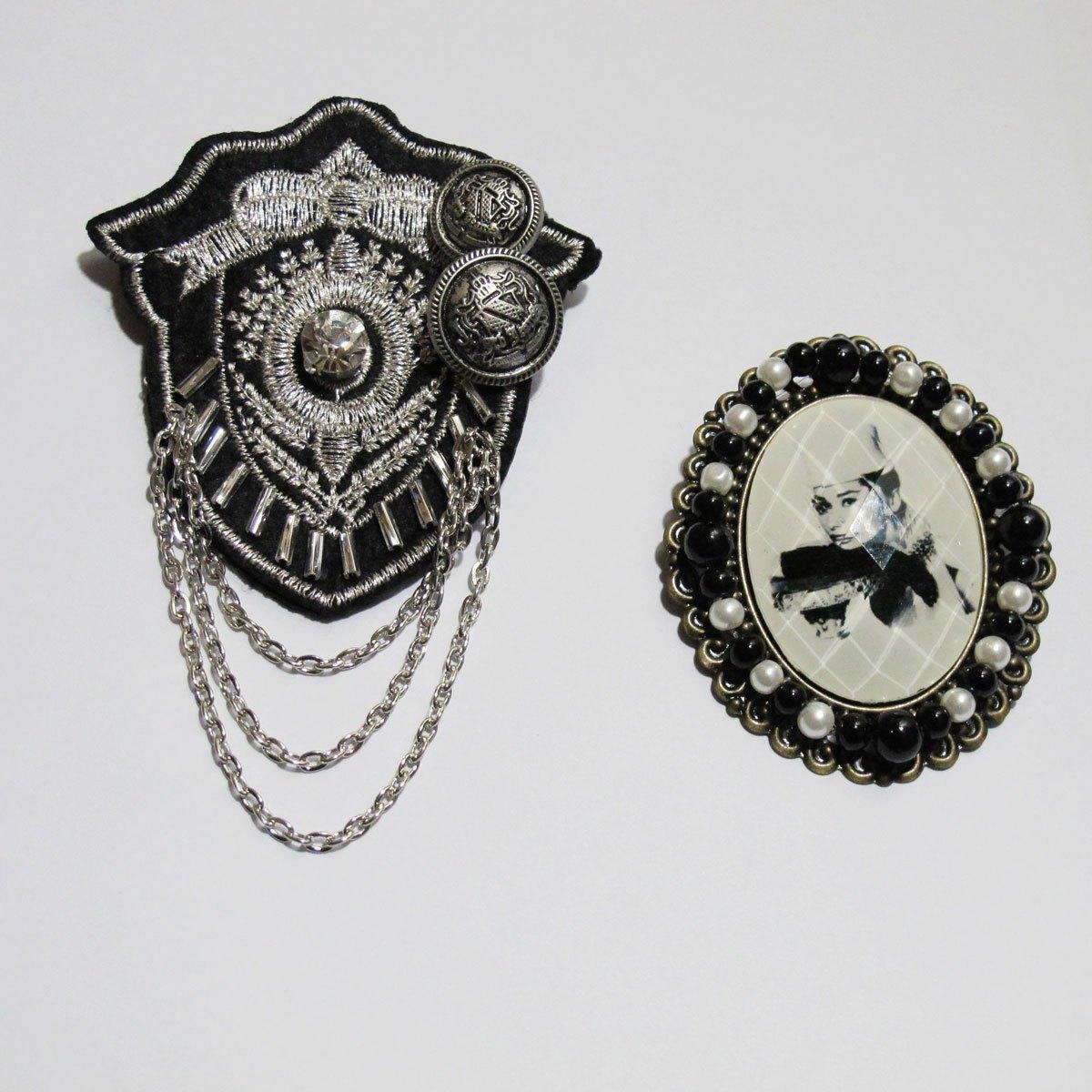 复古 徽章 胸针