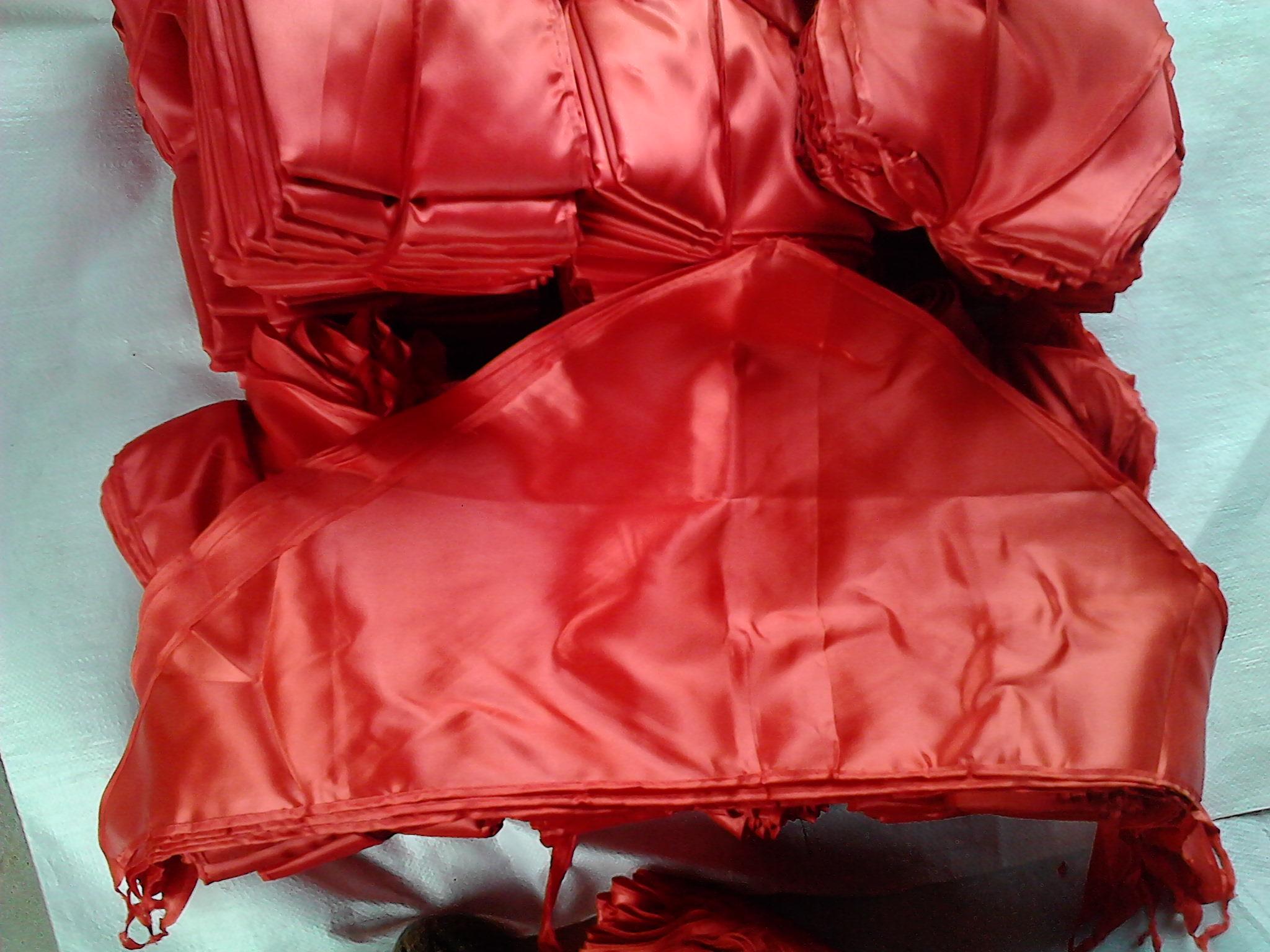 老款红绸缎被面图片_全新桃红色丝绸被面_七七八八布艺
