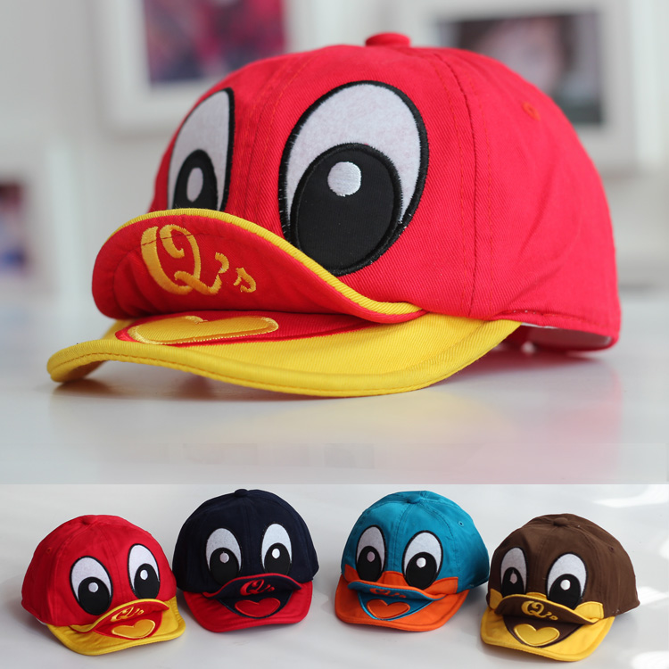 2014年春季女包_2014春款韩版小鸭子造型儿童棒球帽宝宝小黄鸭鸭舌帽双软宝宝帽子