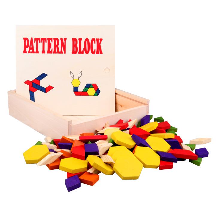 木制益智玩具120片拼图积木智力启蒙几何图形认知玩具小宝宝能玩毛绒玩具吗图片