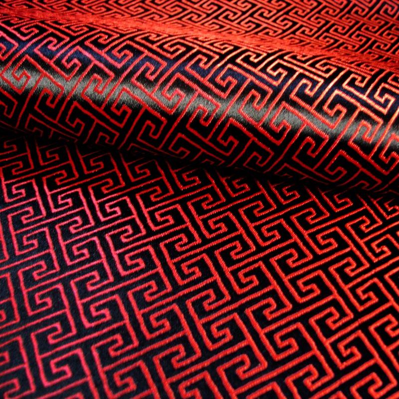老款红绸缎被面图片_