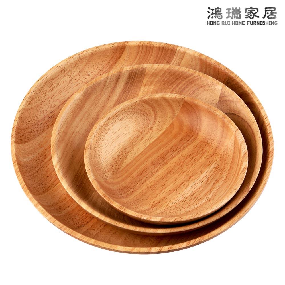 欧式橡木碟子木盘子 创意日式蛋糕盘 木制披萨盘 木托盘实木木盘