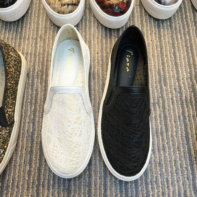 韩国tiara正品精致鸟巢透视懒人鞋套脚鞋平跟鞋女鞋乐福鞋613-40