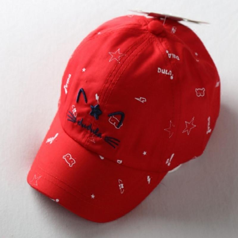 春款儿童帽子嘟嘟啦男女童鸭舌帽纯棉宝宝遮阳棒球帽印花硬檐男童