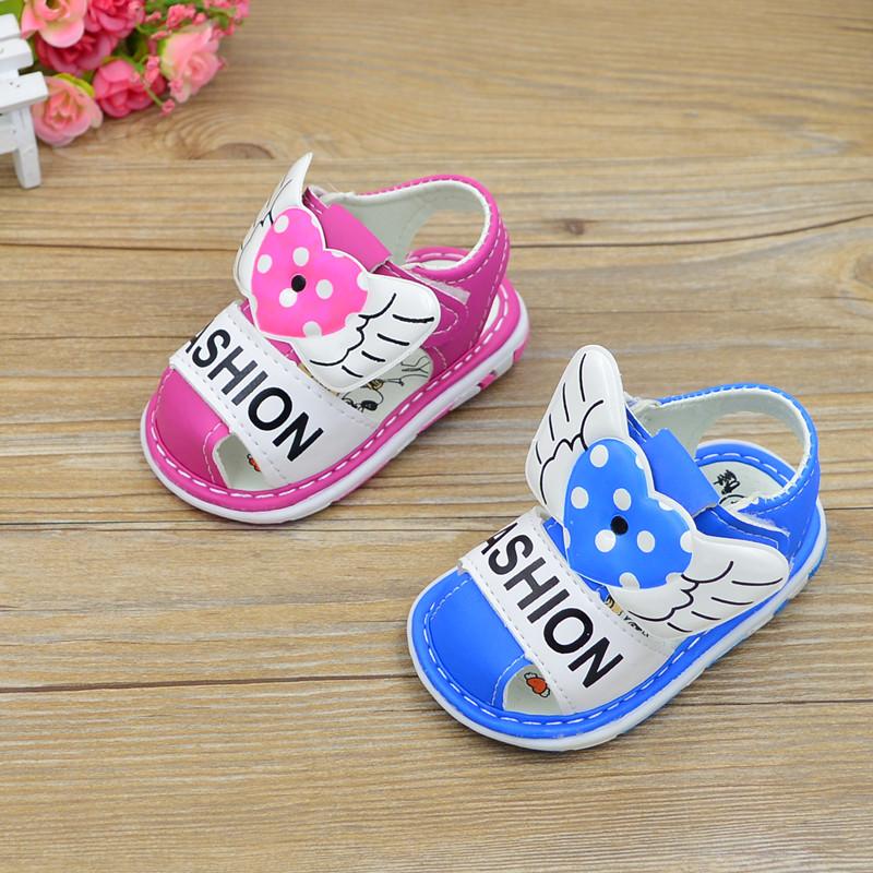 新款儿童凉鞋0-1-2岁宝宝软底鞋婴儿学步可爱小天使鞋男童女童韩