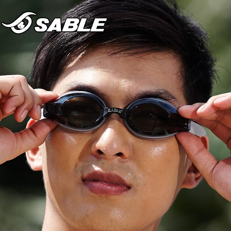 黑貂近视游泳镜防水防雾超大框带有度数的高清游泳眼镜男女902SPT