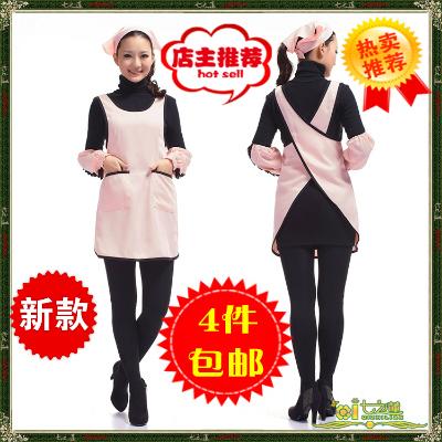 母婴店酒店餐厅奶茶店咖啡馆面包房工作服制服女士围裙+头巾+袖套