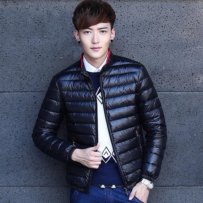反季正品轻薄款男士保暖羽绒服男装青少年韩版修身短款外套秋冬季