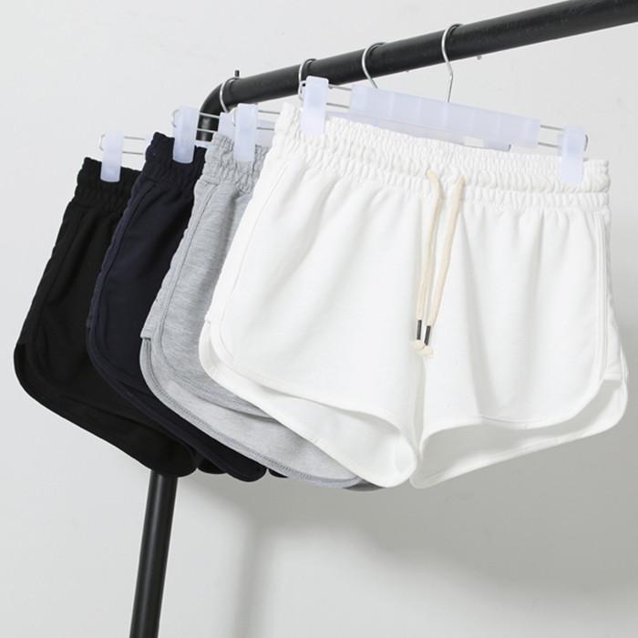 2015夏季新款运动短裤女韩版高腰热裤纯棉休闲阔腿裤跑步宽松大码