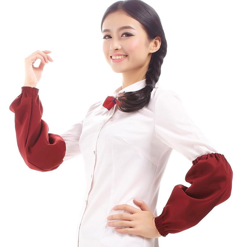 新款围裙袖套 酒店餐饮咖啡厅蛋糕房茶楼美甲套袖 多色防污袖套