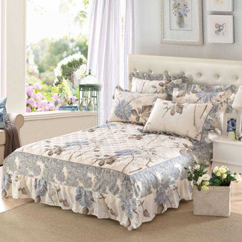 夹棉床裙床罩纯棉加厚床裙床套1.8床全棉床罩床裙1.5床定做包邮