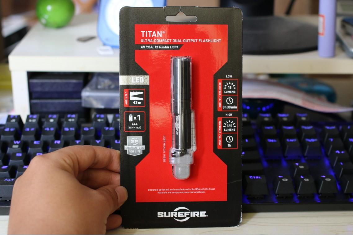 美国购回 正品surefire/神火TITAN 户外手电 新款125流明 AAA电池