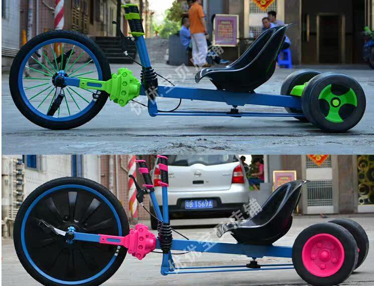 新款成人儿童漂移三轮车自行脚踏三轮车广场公共场所游乐出租包邮