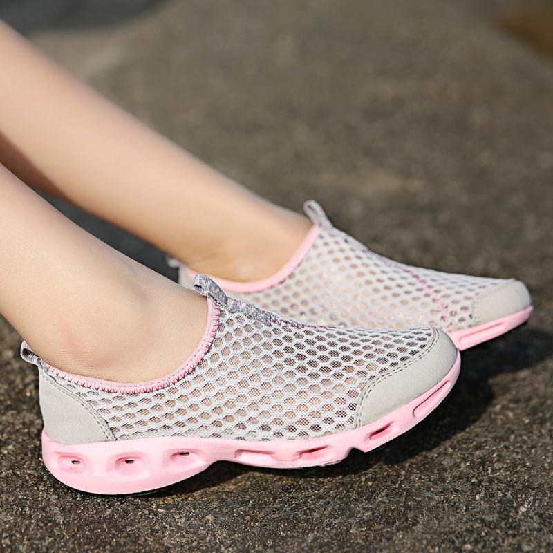 夏季网鞋女透气超轻便套脚懒人鞋休闲气垫跑步鞋男运动鞋旅游单鞋