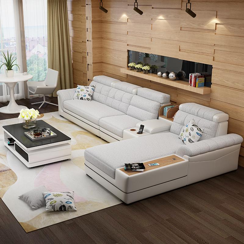 银月亮 布艺沙发茶几电视柜客厅套装组合现代简约大户型全屋家具
