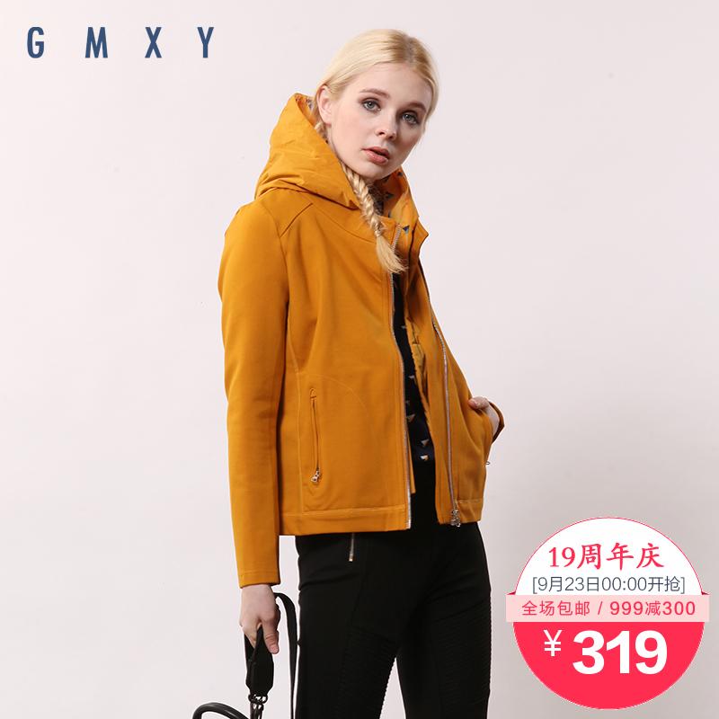【周年庆】古木夕羊GMXY2015秋装新款假两件式带帽外套 A445216