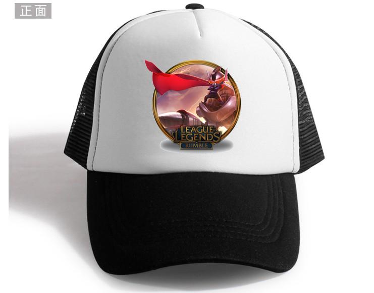 新款英雄联盟LOL网帽男女鸭舌帽卡通英雄皮肤帽子 棒球帽嘻哈帽潮