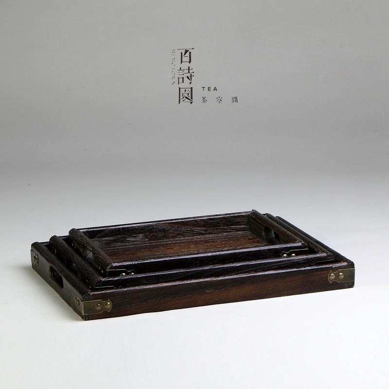 日式茶具木制实木 木质茶盘 托盘 烧桐木花盘餐盘/盘子/果盘多款