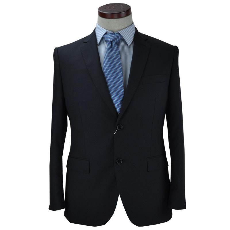 杉杉专柜正品2015新品男士藏青色羊毛商务正装西服套装FXC315362