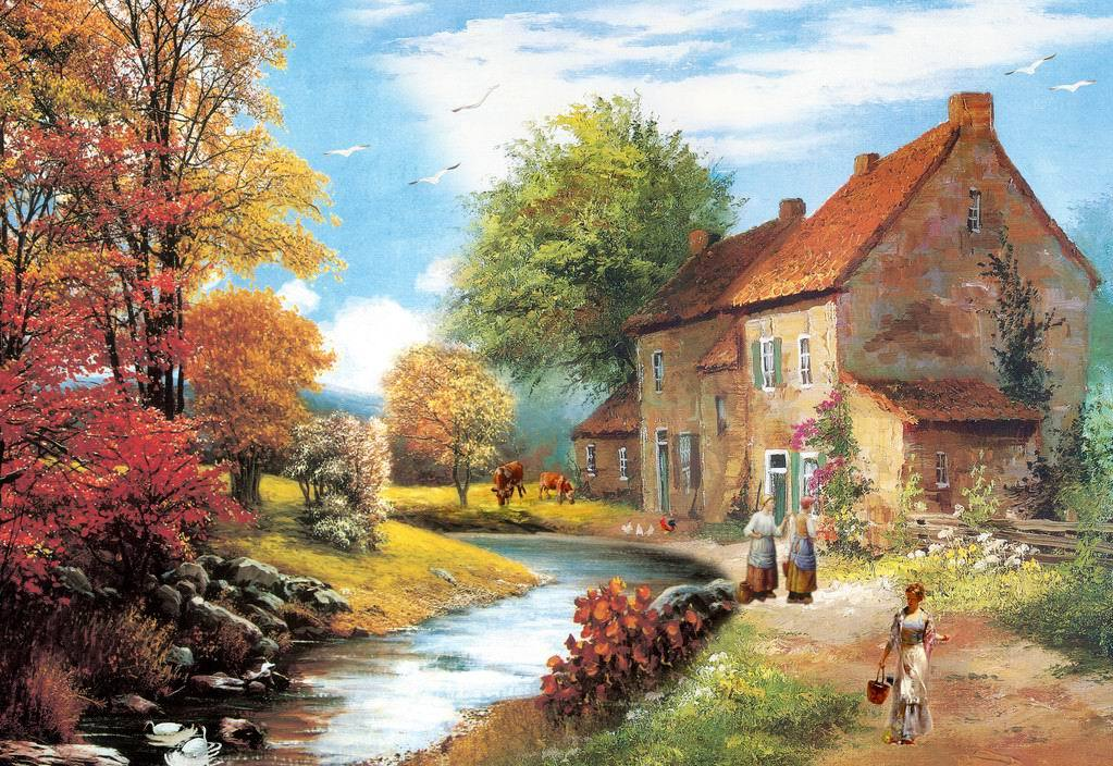 Countryside Painting Images