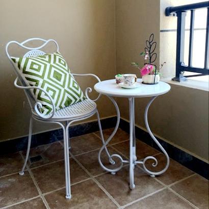 迷你欧式小茶几铁艺客厅沙发边几简约休闲阳台小圆桌卧室咖啡桌子