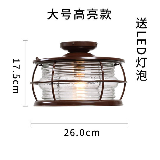 Ceiling lamp for glass sun room, waterproof shed lighting, balcony, terrace, canopy lighting, LED chandelier, outdoor ceiling