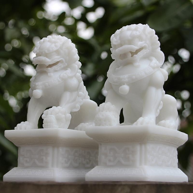 Камень лев пара s украшение домой смотреть ворота городской дом зло домой декоративный камень модельывать китайские белила камень ремесла модельывать модель