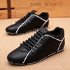 2018 new winter men's casual shoes Korean version of the trend of men's shoes wild peas tide shoes plus velvet warm cotton shoes