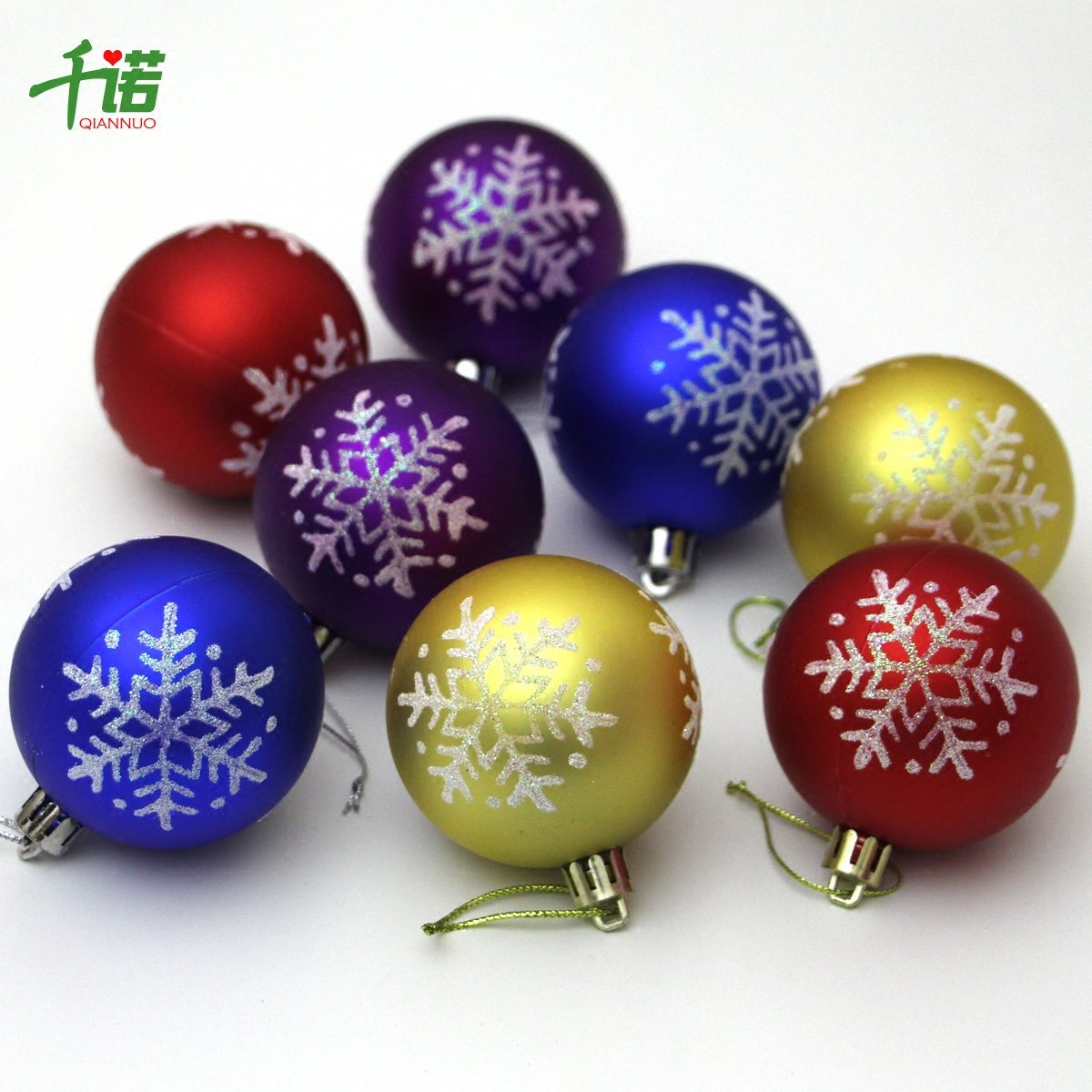 senno christmas decorations christmas tree pendant 8cm snowflake painted christmas ball 6cm golden matte painted ball