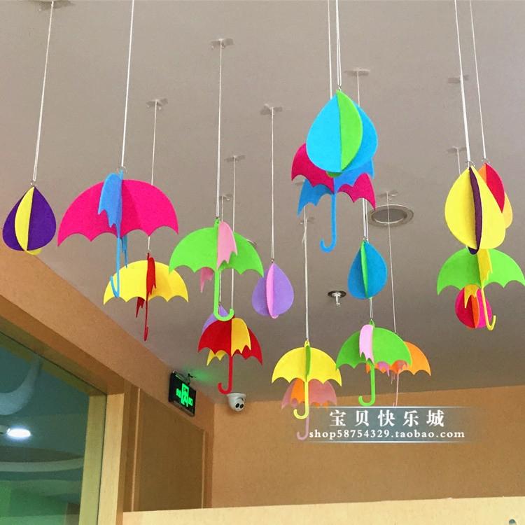 Creative Classroom Decoration For Kindergarten ~ Korean creative pendant kindergarten classroom corridor