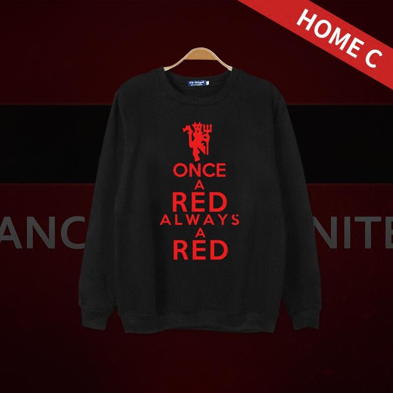 曼联Manchester United曼彻斯特联红魔长袖薄款厚款T恤圆领棉衣服