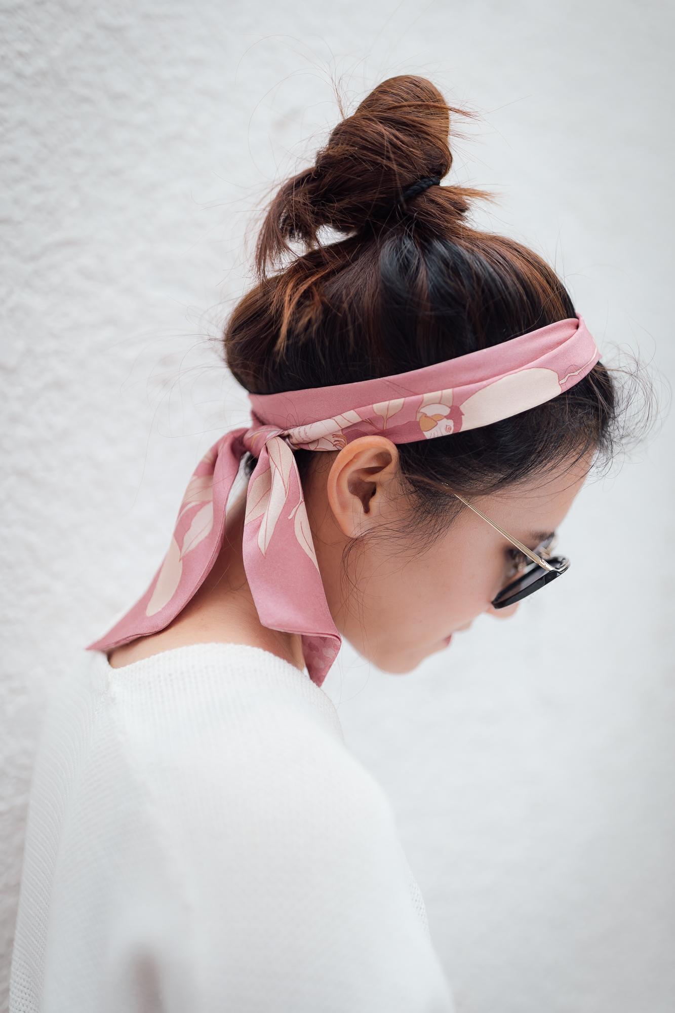шарф Двойной вспомнить Гарсия серия попугай любовное письмо печатных Шелковый Атлас узкий шарф светло-розовый длинные оригинальный дизайн