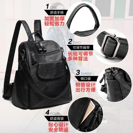 | Цена 2470 руб | Цветок, бутон мед ребенок 2018 новый двойной мешок женщина любитель качество корейский дикий путешествие двойной рюкзак простой фасон волна пакет