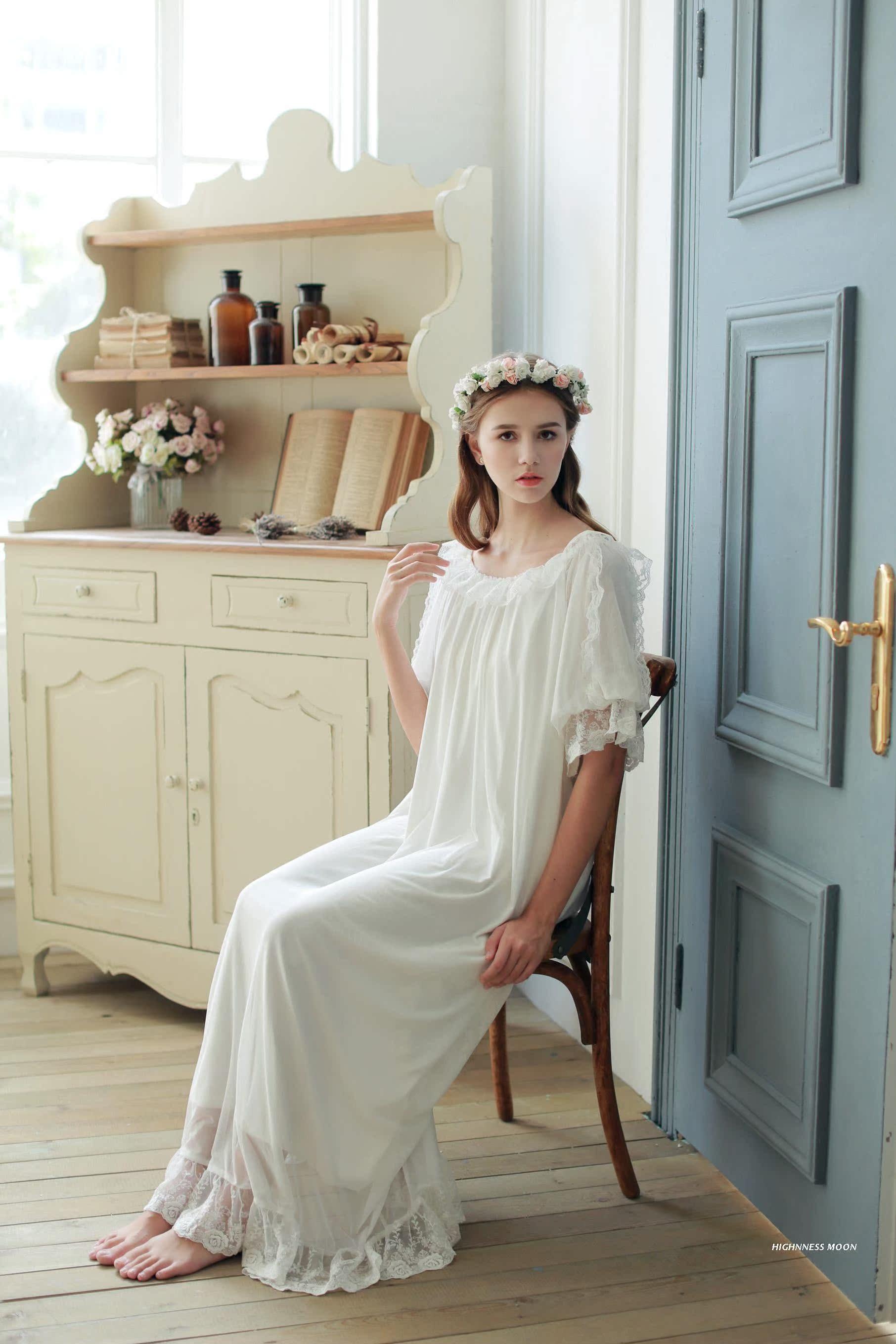 4d29549002 ... lightbox moreview · lightbox moreview · lightbox moreview · lightbox  moreview. PrevNext. (Dream)summer Princess lace short sleeve long nightdress  ...