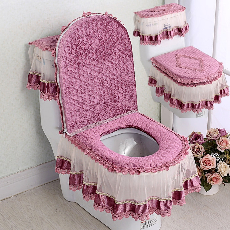 Incredible Four Seasons Toilet Seat Cushion Three Sets Of European Lace Caraccident5 Cool Chair Designs And Ideas Caraccident5Info