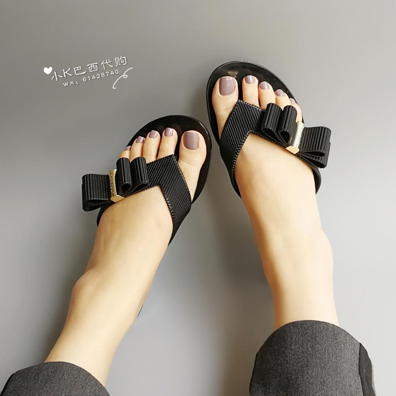 4500295c351bf 2018 new Brazil buy melissa jason wu Melissa bow shoes slippers flip flops