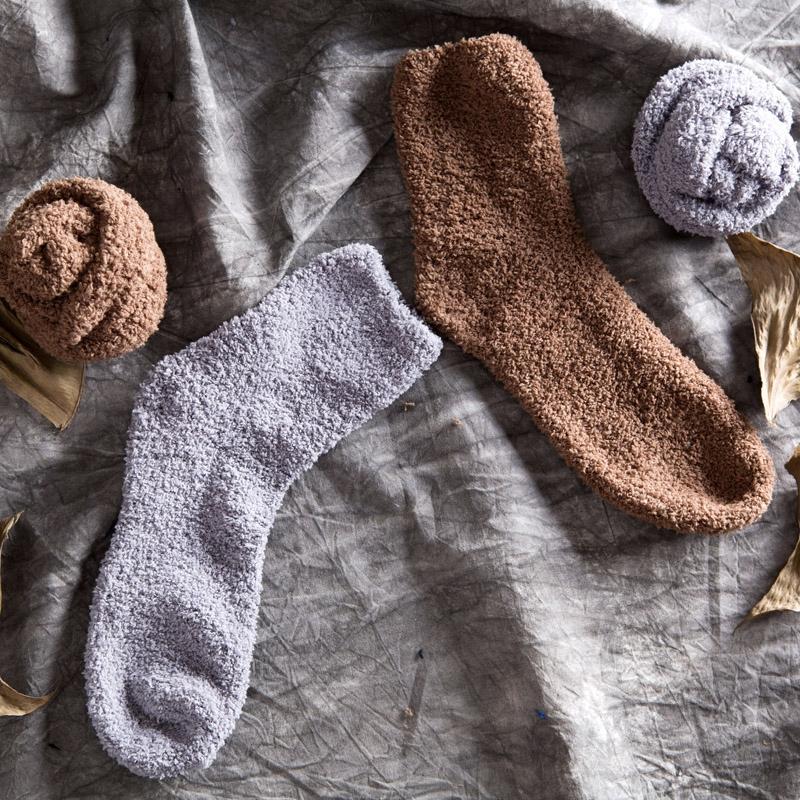 Домой домой коралл осенне-зимний тёплый носки утолщённый в носки зима твердый носки мужчина толстый теплый носок