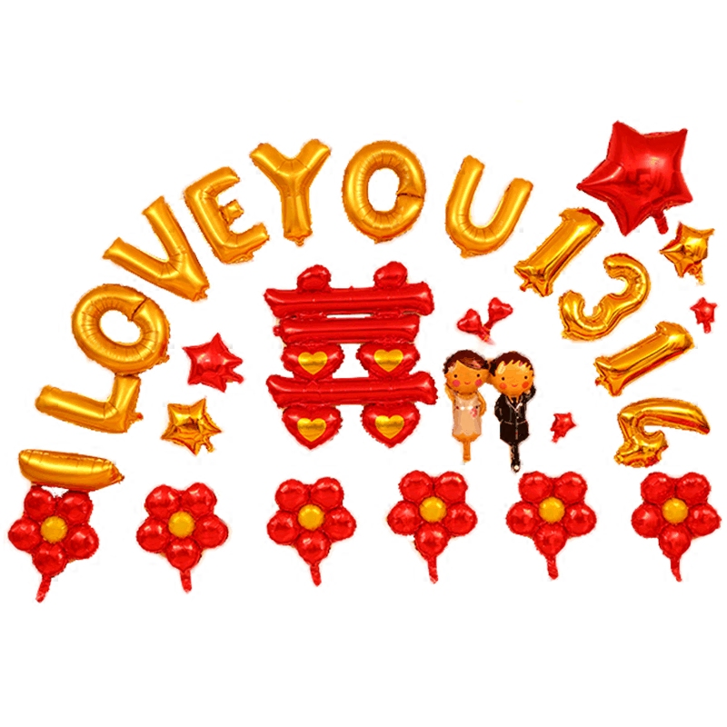 Usd 1035 wedding supplies aluminum foil balloons for wedding lightbox moreview junglespirit Images