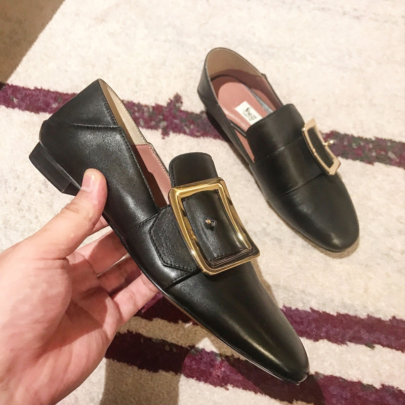 58ebaa34a976 ... [sheii苏茵茵]Must enter a single product ~ New Pearl Party buckle Lounger  Flat ...