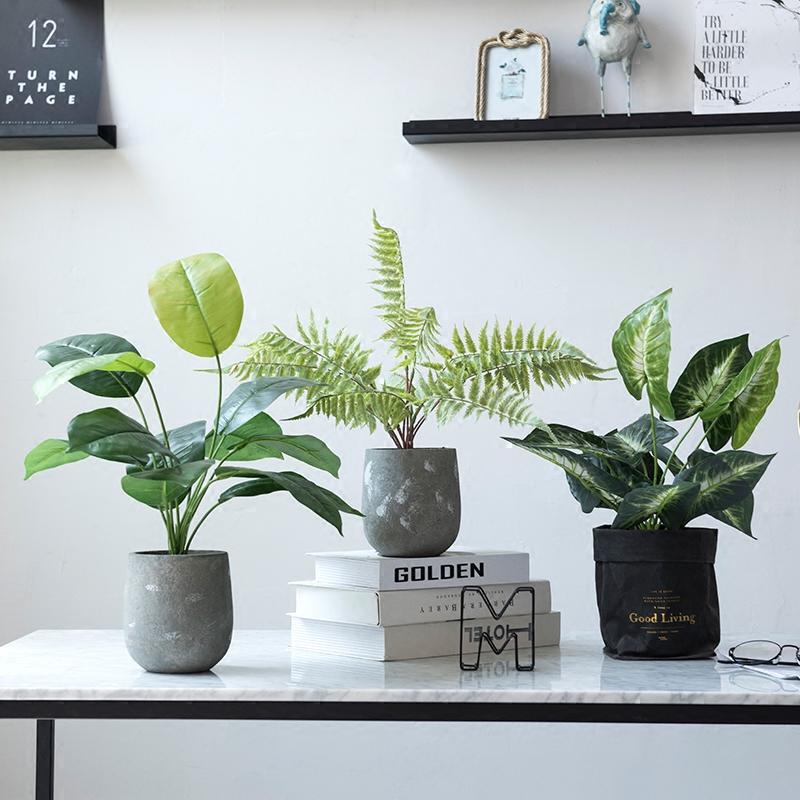 бонсай модули современного дома крытый офисные растения бонсай моделирования зелени в горшках Северные минималистский декоративные украшения
