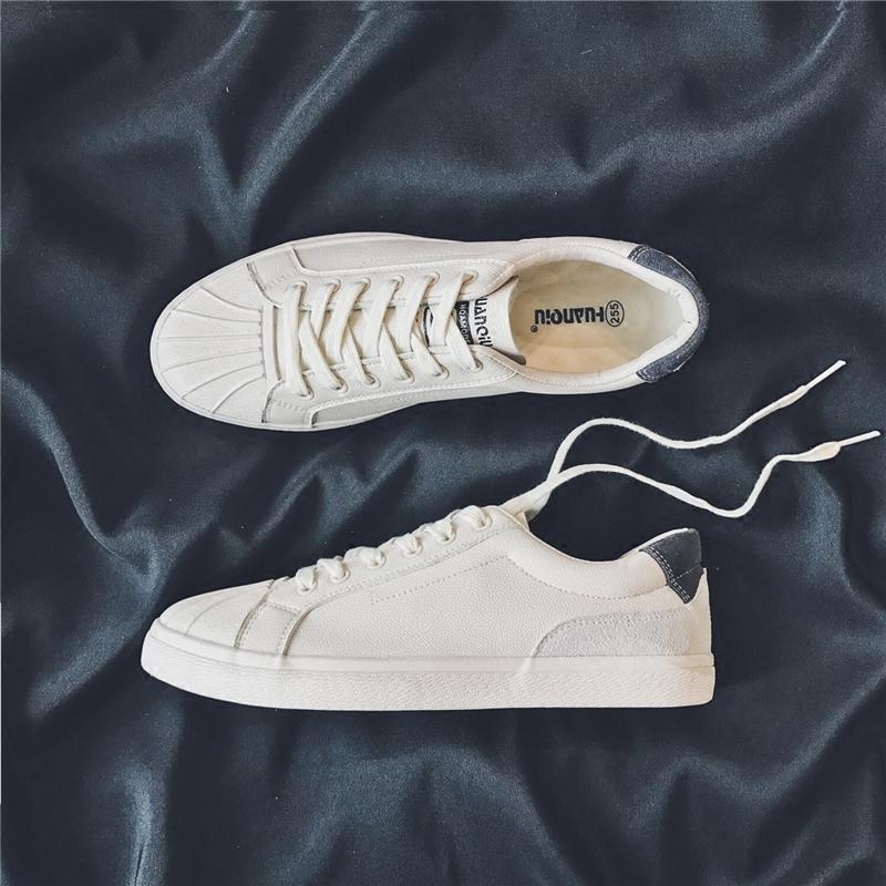 Глобальной мужской Обувь 2018 корейская версия модные панель Обувь студент дикая голова панель башмак белый для отдыха Мало белый Кожа для обуви