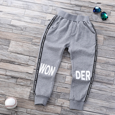 Boys large size children's clothing sports pants spring and autumn winter trousers in the children's casual pants cotton children new wave