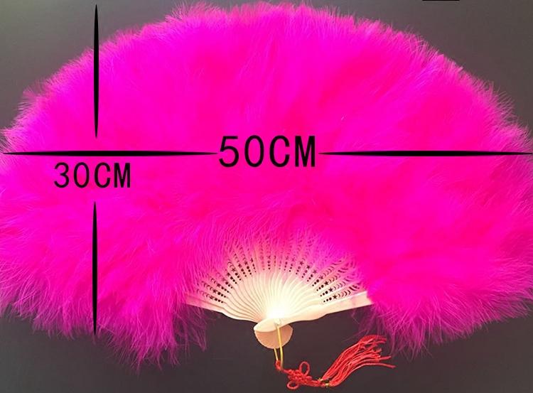 Декоративный веер Шун в бесплатная доставка бутик полной кашемир плюс толстый вентилятор перо танец вентилятор китайский стиль на подиуме выступления 50 этап*30см