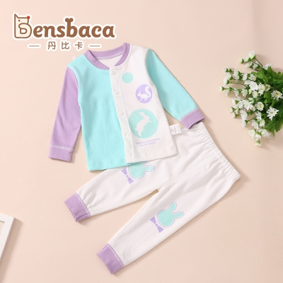 0-2 year old baby cotton underwear brand baby baby clothes A type baby home two-piece suit pants autumn clothes